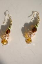 Women's Duster Earrings Womens Amber, Rose Gold... - $25.00