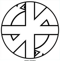 "Crass logo white vinyl laminated sticker decal 12"" / 30.5cm square Confl... - $20.62"
