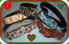 Small 10 14 inch Dog Collar Gold Cream OR Silver Gray OR Brown Gold Only 3 Left - $9.99