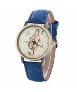 Fashion Vintage Leather Belt Watches Women Luxury Music Pattern Watches ... - $12.99
