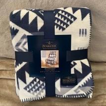 Pendleton Jacquard Throw Blanket Westward Journey Blue White Print Blank... - $69.29