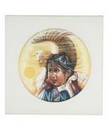 Senza Titolo (Nativi Americani Girl Con / Aquila) Di Anthony Sidoni Firm... - $2,734.86