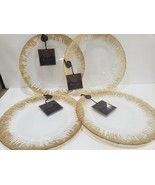 Christmas Artistic Accents Gold Trim Clear Dinner Plates Set of 4 - $59.99