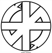 Crass logo circular white vinyl self cling Window Sticker 120mm Conflict... - $4.39
