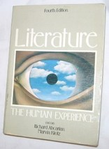 Literature The Human Experience 1986, Paperback Fourth Edition FREE SHIP U.S.A. - $17.37