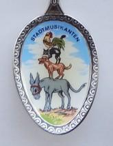 Collector Souvenir Spoon Germany Stadtmusikanten Town Musicians Coat of Arms - $19.99