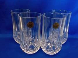 Cristal d'Arques Longchamp Set of 6 Tumblers/Highball Glasses - Diamond Cut  - $17.99