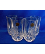 Cristal d'Arques Longchamp Set of 6 Tumblers/Highball Glasses - Diamond ... - $17.99