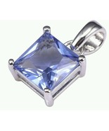 "Tanzanite .5""  Pendant  925 Sterling Silver High Quality Gem US SHIPPER - $19.98"