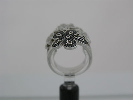 Ring Cacharel with four flowers and stones (CSR261ZN), Sterling Silver 0... - £74.45 GBP