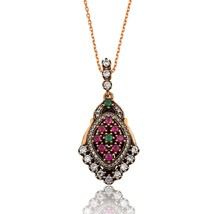 925 Sterling Silver authentic Petunya Necklace - $63.67