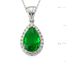 925 Sterling Silver Zircone Stone Necklace - $55.17