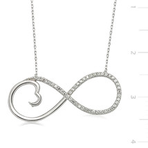 925 Sterling Silver Zircone Stone Eternity Necklace - $67.92