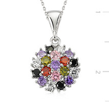 925 Sterling Silver Zircone Stone Necklace - $46.67