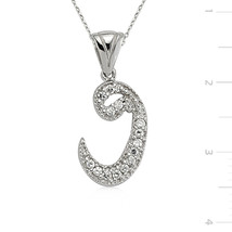 Zircone Stone 925 Sterling Silver Vav Necklace - $39.90