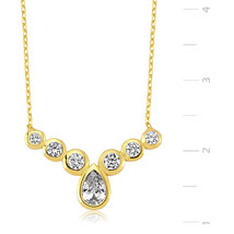 Gold Plated Rain Drop Necklace - $46.67