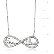 You and Me Eternity 925 Sterling Silver Necklace - $46.67