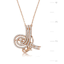 Rose Plated Tugra 925 Sterling Silver Necklace - $46.67