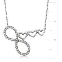 Kalbim Eternitya Dek Seninle 925 Sterling Silver Necklace - $50.92
