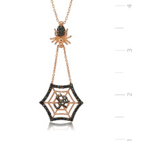 925 Sterling Silver Muhammed Written Spider Web Necklace - $59.42