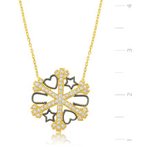 Gold Plated Snow Flake 925 Sterling Silver sans Necklace - $50.92