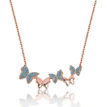 925 Sterling Silver Spring's butterfly Necklace - $55.17