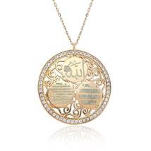 925 Sterling Silver Ayet'el Kursi, Evil Eye Duas ve Allah Written Necklace - $86.18