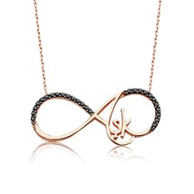 925 Sterling Silver Eternity Love Necklace - $59.42