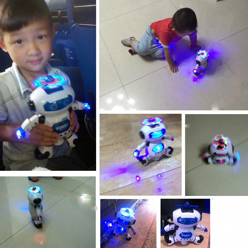 BOHS Space Dancer Humanoid Robot Toy With Light Children Pet Brinquedos Electron