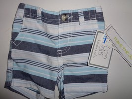 Koala Kids Fun in The Sun Infant Shorts NWT Sz 3 Months Blue Striped - $8.99