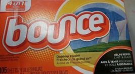 """Bounce """"Outdoor Fresh"""" Dryer Sheets (105 sheets) - $9.21"""