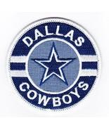 3 INCH DALLAS COWBOYS SEW/IRON ON PATCH SPORTS FAN APPAREL SOUVENIR NFL - $5.99
