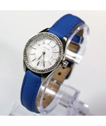 New Fossil BQ3147 Carissa Silver Stainless Steel Dial Blue Band Women Watch - $74.23
