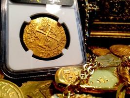 Peru 1712 Gold 8 Escudos Doubloon Coin Ngc 64 Fin Kn! 1715 Plate Fleet Shipwreck - $37,500.00