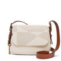 Fossil Vanilla Leather Zipper Closure Harper Small Crossbody/Shoulder Bag - $299.99