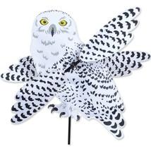 "Snowy White Owl Whirl Wing 22"" Bird Whirligig Staked Spinner PR 21901 - $49.99"