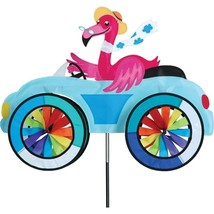 Flamingo Fun Car Vehicle Staked Wind Spinner With Pole Ground Mount..24 ... - $56.99