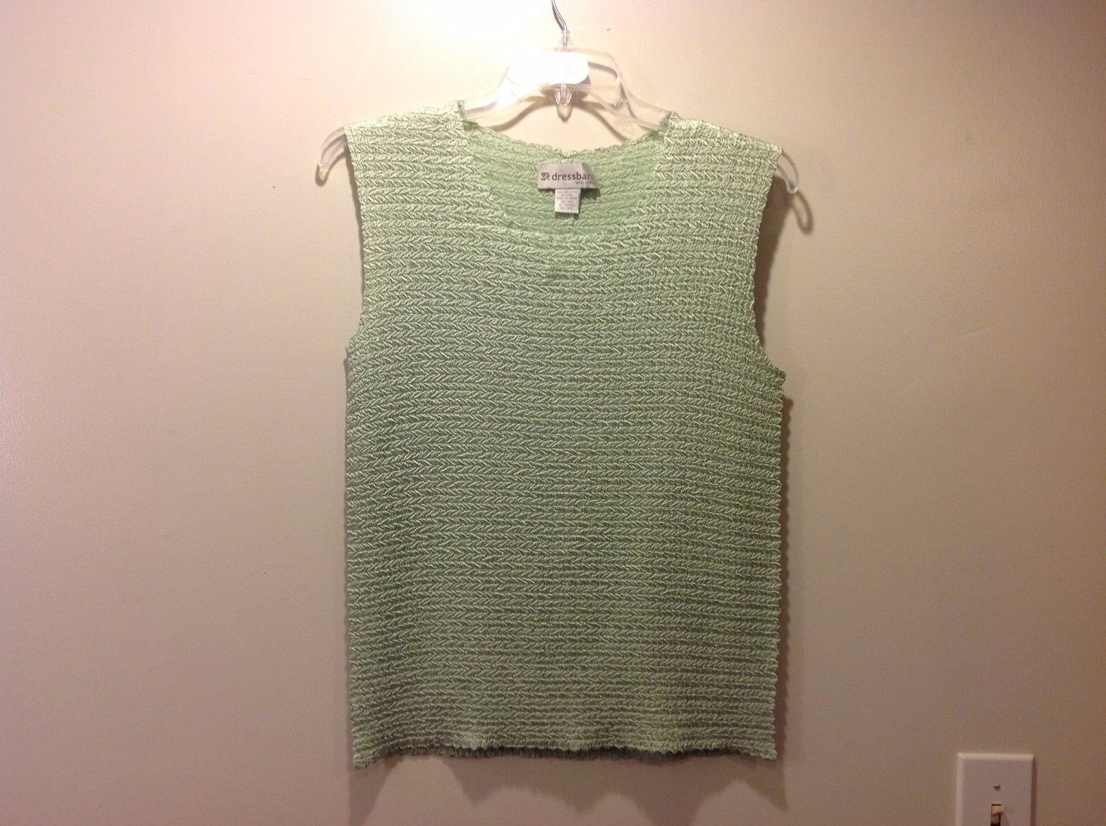 Chartreuse Sleeveless Textured Blouse by Dressbarn Sz 18 20