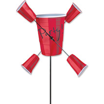 "Party Cups Staked 10"" Whirligig Wind Spinner Wi... - $27.99"