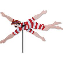 "Victorian Swimmer 28"" x11"" Whirligig Wind Staked Wind Spinner PR 21809 - $48.99"