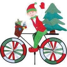Elf with Tree on a Bicycle Staked Wind Spinner with Pole & Mount PR 26702 - $26.99