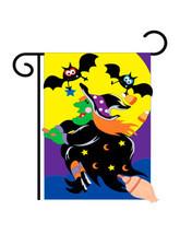 """Bats & Witch Halloween (13"""" x 18"""" Approx ) Garden Size Flag TG 62044 - $9.99"""