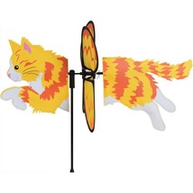 "Long Hair Ginger Cat 19"" Whirligig Petite Stake... - $18.59"