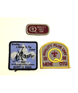 3 Scouting Patches from 1991-Scouting A Bridge-Quality Unit-Quality Plus Unit - $11.87
