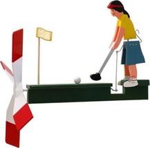 Female Golfer Wooden Wind Whirligig-29...-  F G... - $47.99