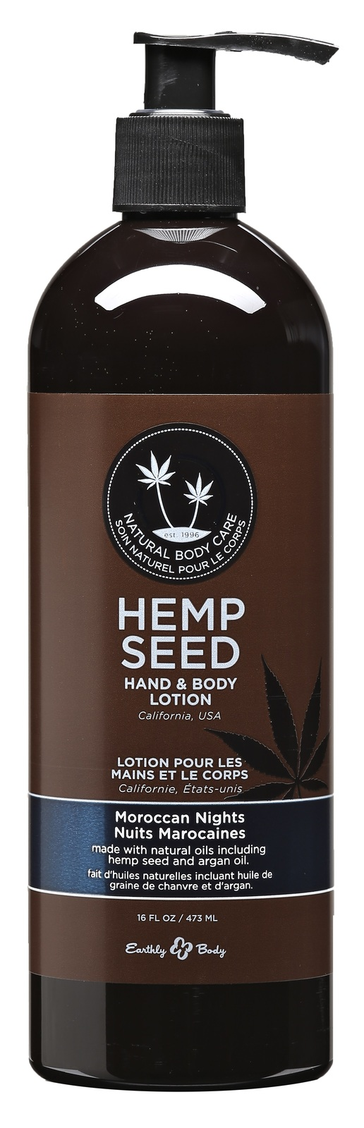 Hemp Seed Hand and Body Lotion - Moroccan Nights - 16 Fl. Oz.