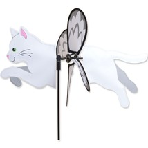 "White Cat 19"" Whirligig Petite Staked Wind Spinner PR 25195 - $18.59"