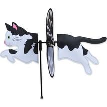 """Black & White Cat 19"""" Whirligig Petite Staked Wind Spinner PR 25176 - $18.59"""