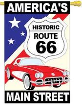 Route 66 Historic Route 66 w/Vette House Flag 15043-TG - $26.99