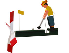 Male Golfer Wooden Wind Whirligig-29...-  Golfer - $47.99